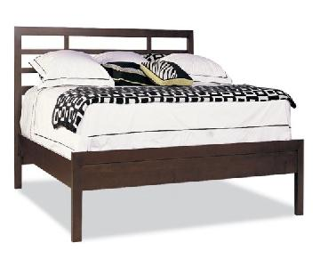 Durham Furniture Soma Queen Asian Bed w/ Low Panel Footboard
