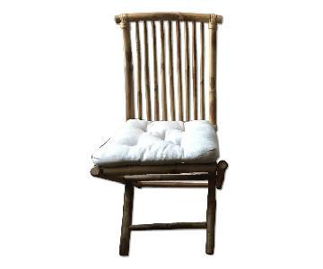 Folding Bamboo Chair w/ Cushion