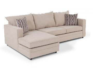 Bob's 2-Piece Right Arm Facing Sectional Sofa