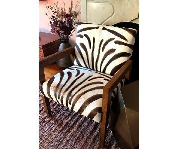Williams Sonoma Zebra Pattern Chair