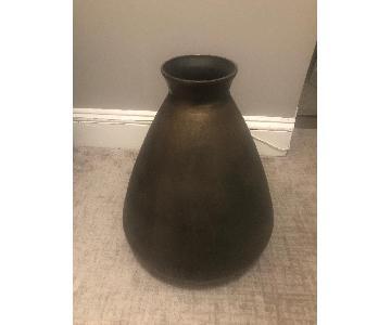 Crate & Barrel Bronze Floor Vase