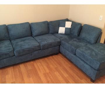 Glory Furniture Blue Sectional Sofa