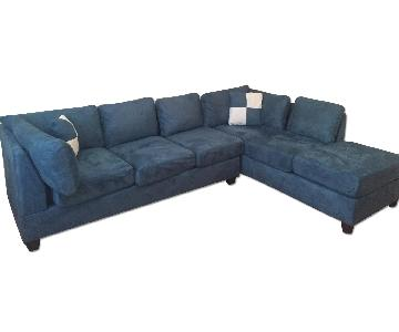 Glory Furniture Blue Sectional Sofa ...  sc 1 st  AptDeco : blue sectional sofa with chaise - Sectionals, Sofas & Couches