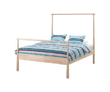 Ikea Gjora Solid Birch Bed Frame
