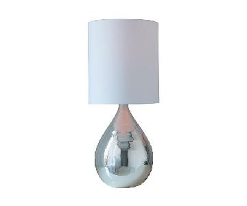 West Elm Silver Table Lamp