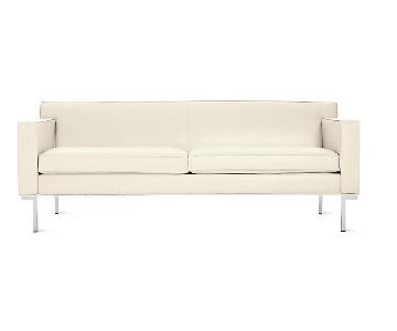 Design Within Reach White Leather Couch
