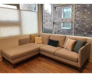 ABC Carpet & Home Sectional Sofa w/ Chaise