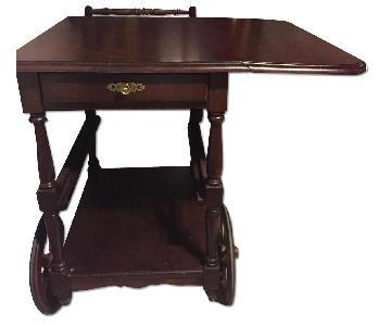 Antique Adjustable Bar Cart