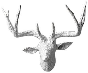 Restoration Hardware Petite Papier-Mache Stag Antelope Head