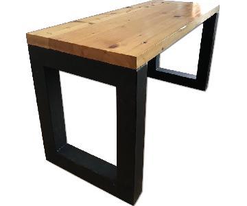 Custom Made White Oak Desk w/ Steel Legs