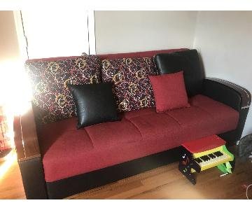 Ashley Red Sleeper Sofa