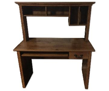 Wood Computer Desk w/ Hutch