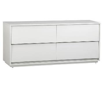 CB2 Shake Low White Lacquer Dresser