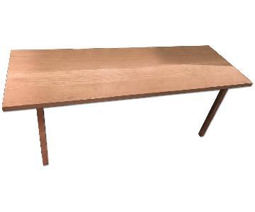 Ikea Oak Top Desk w/ Aluminum Legs