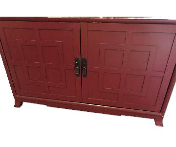 Crate & Barrel Asian-Inspired Storage Cabinet