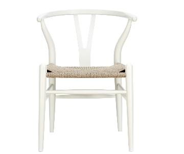 Poly & Park Weave Chair in Beech Wood w/ Cord Woven Seat