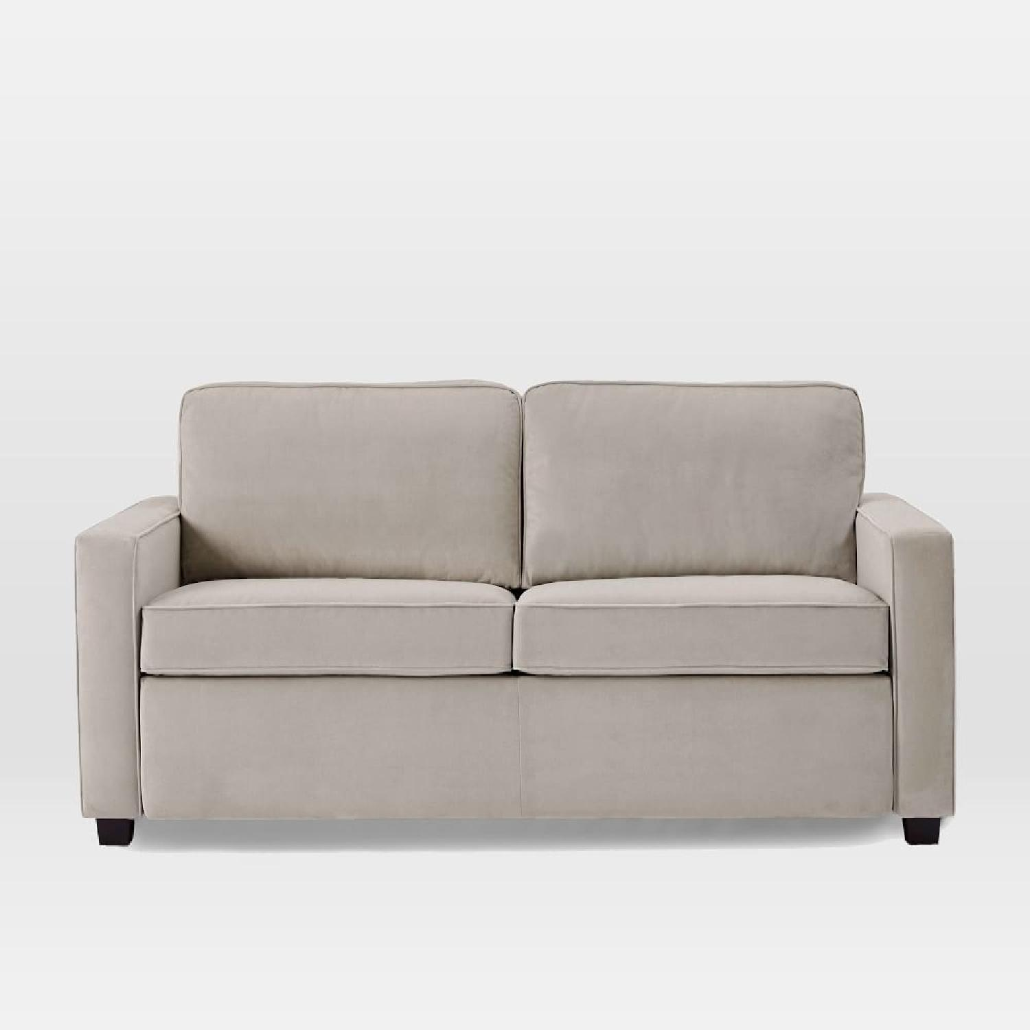 West Elm Henry Dove Grey Sofa AptDeco