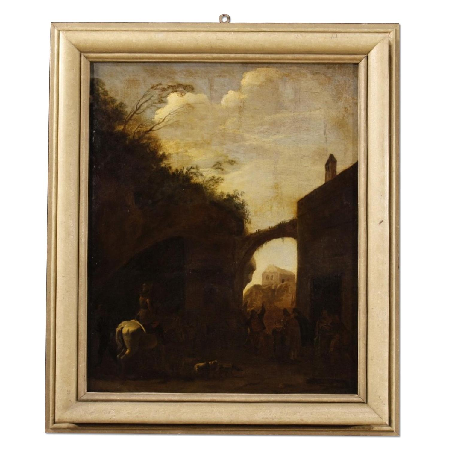 18th Century Dutch Landscape Oil Painting
