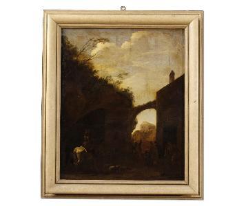 18th Century Dutch Landscape Oil Painting