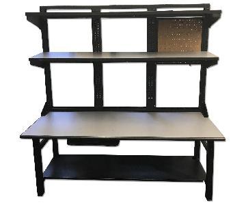 Mayline Techworks Desk w/ Shelves