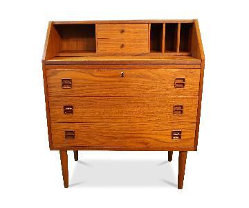 Danish Mid Century Modern Teak Secretary/Dresser