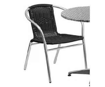Outdoor Aluminum w/ Black Dining Chair