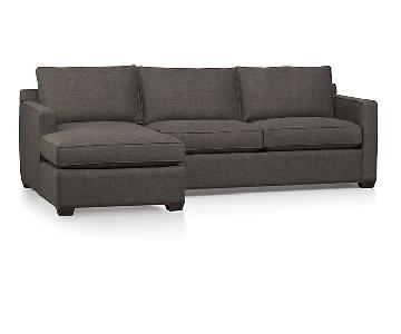 Crate U0026 Barrel Davis 2 Piece Sectional In Graphite Part 79