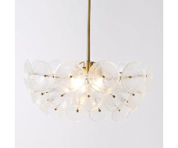 West Elm Glass Disc Chandelier & Flushmount