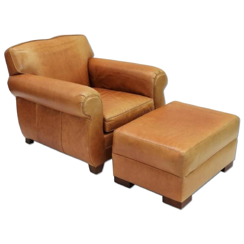 Restoration Hardware Lowell Leather Club Chair & AptDeco