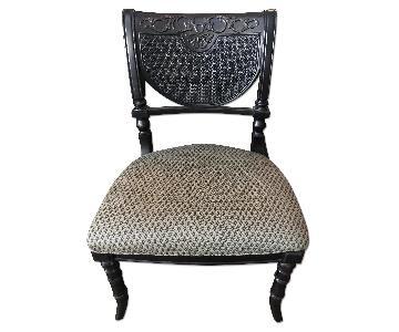 Peter Andrews Black Mediterranean Chair w/ Upholstered Seat