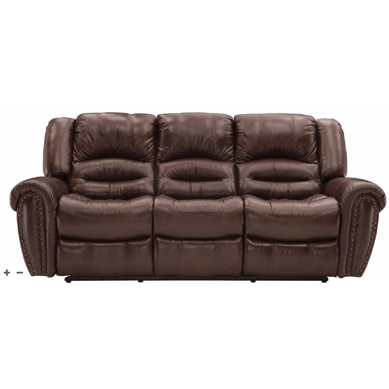 Raymour & Flanigan Cole Leather Power Reclining Sofa AptDeco