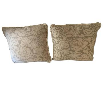 Throw Pillows in Bennison Floral Fabric