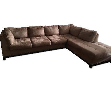 Raymour & Flanigan 2 Piece Sectional Sofa