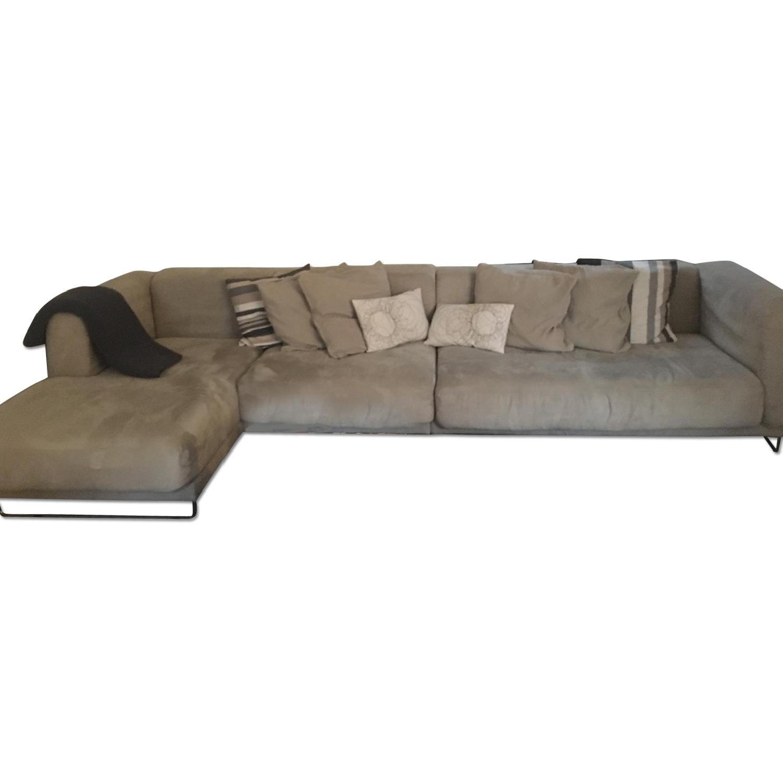 Ikea Beige L-Shaped Sectional Sofa