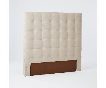 West Elm Grid Tufted Headboard