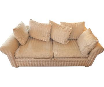 Cream & Beige Full Size Sleeper Sofa