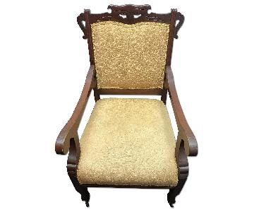 Antique Brocade Armchair