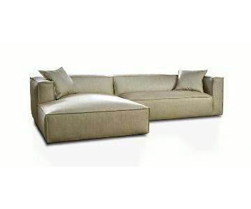 Nathan Anthony Boxx Full Feather Down Fill Sectional Sofa