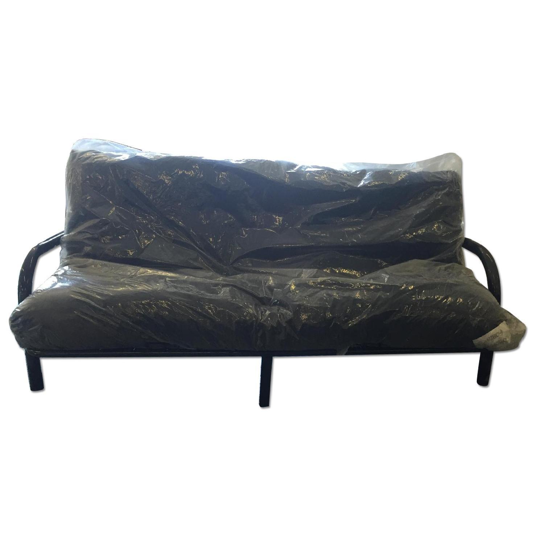 Eco Rest Clack Futon in Blue Leatherette AptDeco