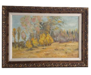 Russian Autumn Landscape Original Painting
