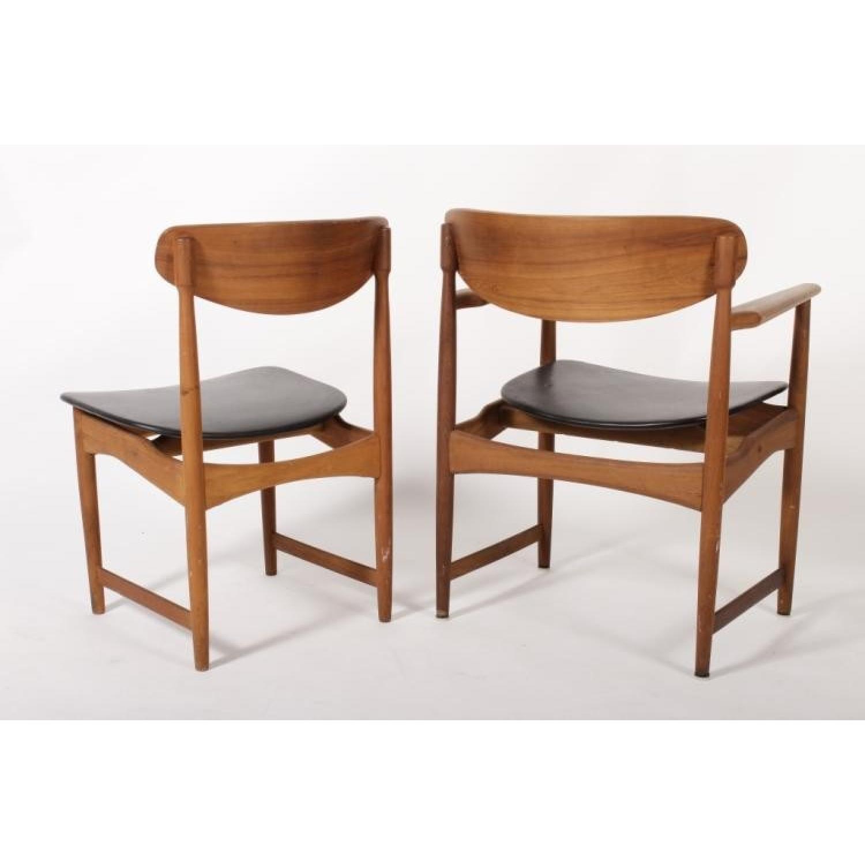 arne holvand olsen teak upholstered danish modern chair aptdeco