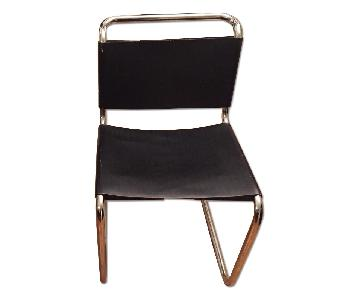 1980's Mart Stam Reproduction Steel & Leather Chair