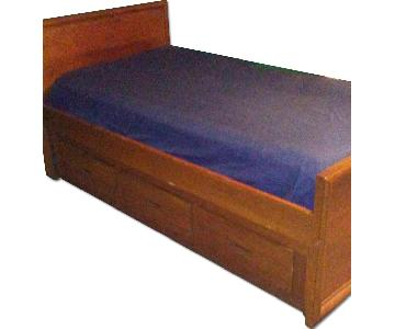 Dixie Furniture Twin Size Bed w/ 3 Storage Drawers