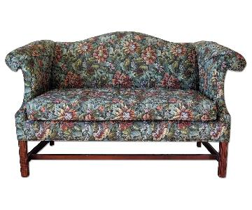 Hickory Chair Floral Tapestry Loveseat
