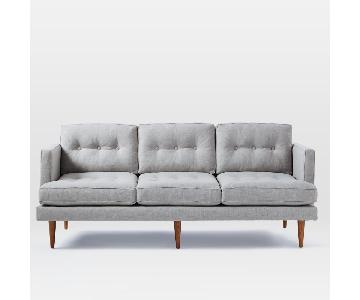 West Elm Peggy Mid-Century Sofa in Light Grey