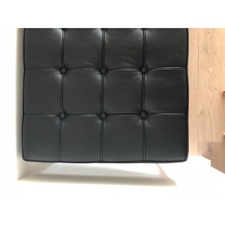 ... DCOR Design Black Leather Bench W/ Chrome Legs 7 ...