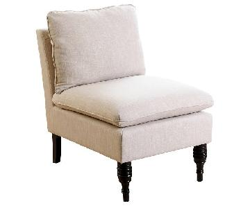 Abbyson Living Furniture Bonnie Cream Slipper Chair