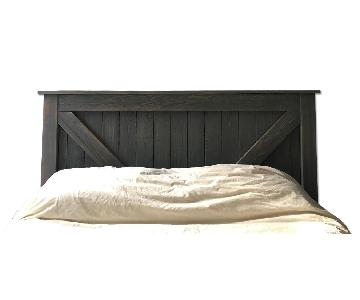 Queen Farmhouse Bed Frame w/ Headboard