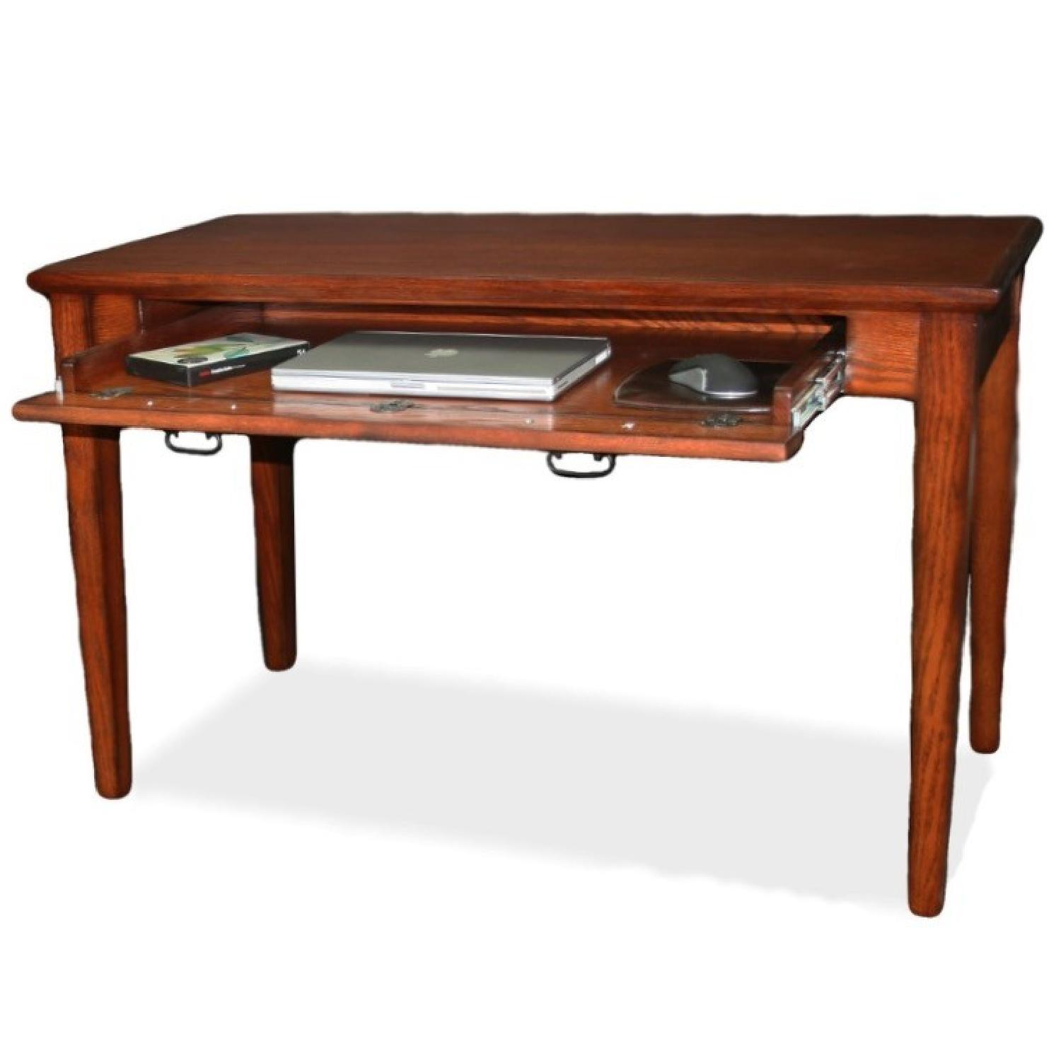 Solid Wood Mission Laptop Desk w Drawer AptDeco