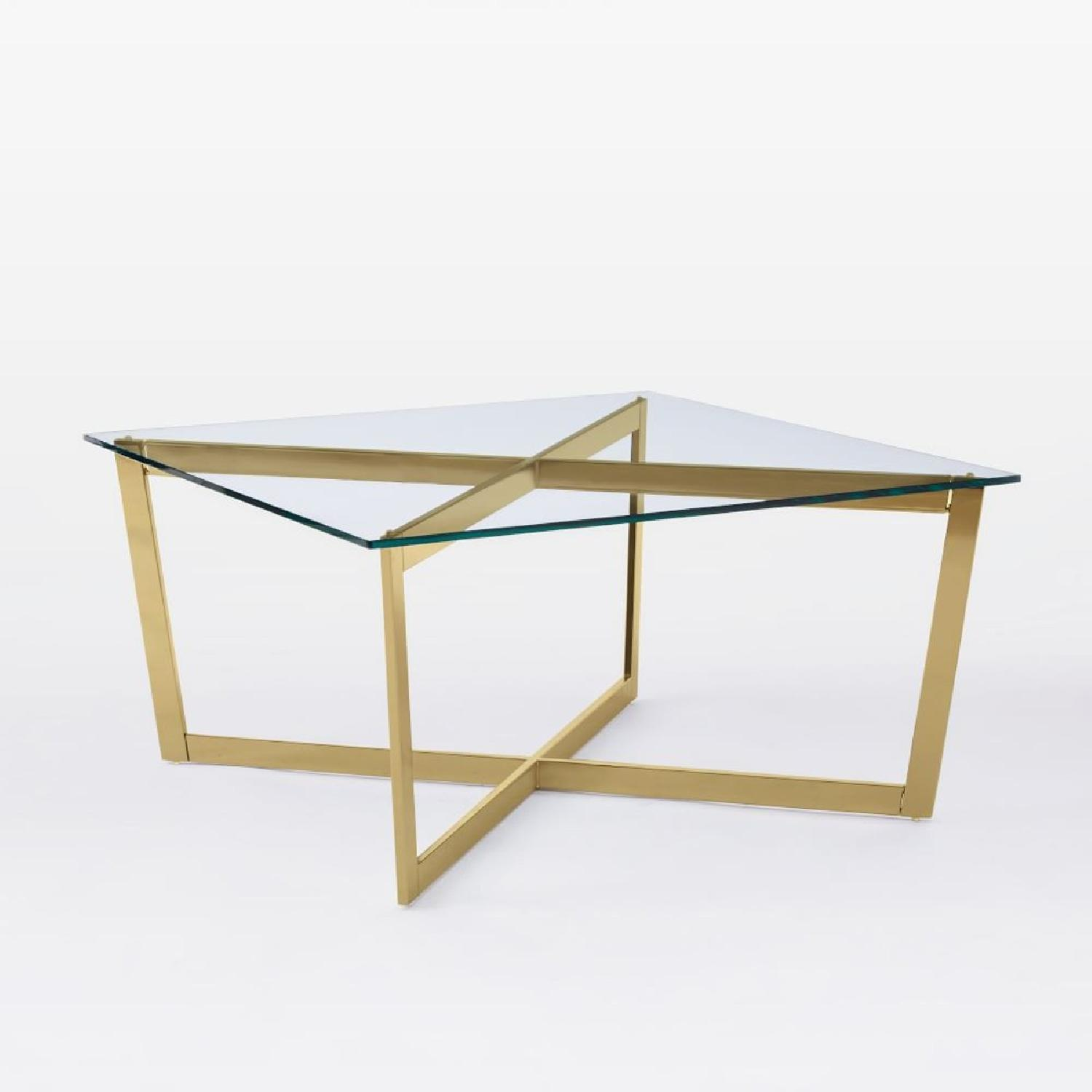 West Elm Cross Base Coffee Table AptDeco